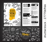 restaurant cafe menu  template... | Shutterstock .eps vector #277706966