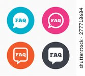 circle buttons. faq information ... | Shutterstock .eps vector #277718684