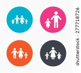 circle buttons. family with two ... | Shutterstock .eps vector #277718726