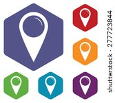 pointer rhombus icons set in... | Shutterstock . vector #277723844