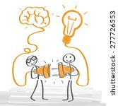 two people have an idea | Shutterstock .eps vector #277726553
