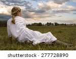 young girl wearing a white... | Shutterstock . vector #277728890