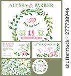 wedding invitation design... | Shutterstock .eps vector #277738946
