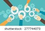 business team and teamwork... | Shutterstock .eps vector #277744073