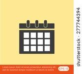 calendar icon | Shutterstock .eps vector #277744394