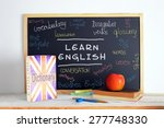blackboard in an english class. ... | Shutterstock . vector #277748330