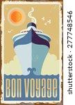 vintage retro cruise ship  ... | Shutterstock .eps vector #277748546