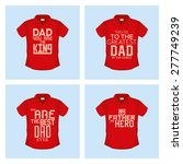 set of shirts with text for... | Shutterstock .eps vector #277749239