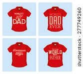 set of shirts with text for... | Shutterstock .eps vector #277749260