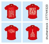 set of shirts with text for... | Shutterstock .eps vector #277749320