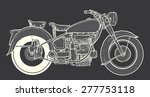 vintage motorcycle hand drawn... | Shutterstock .eps vector #277753118