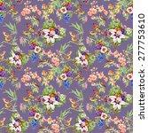 watercolor wild exotic birds on ... | Shutterstock .eps vector #277753610