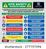 site safety starts here or site ... | Shutterstock .eps vector #277757396