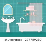 bathroom with furniture and... | Shutterstock .eps vector #277759280