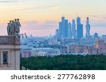 stalinist statues and modern... | Shutterstock . vector #277762898