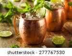 Small photo of Icy Cold Moscow Mules with Ginger Beer and Vodka