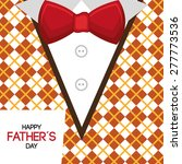happy fathers day card design ... | Shutterstock .eps vector #277773536