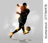 abstract soccer player quick... | Shutterstock .eps vector #277784978