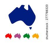 abstract australia map logo...   Shutterstock .eps vector #277788320