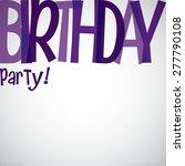 typographic birthday card in... | Shutterstock .eps vector #277790108