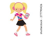 cute girl vector illustration  | Shutterstock .eps vector #277790426