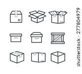 boxes icons   Shutterstock .eps vector #277804979