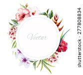 Watercolor Vector Frame With...