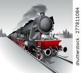 Steam Engine Locomotive Train....