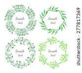 green floral leaf border... | Shutterstock .eps vector #277817369