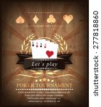 poker tournament background... | Shutterstock .eps vector #277818860