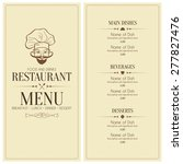 restaurant menu design. vector... | Shutterstock .eps vector #277827476