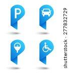 parking space concept set as...   Shutterstock .eps vector #277832729