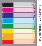 vector set of colorful banners... | Shutterstock .eps vector #277834949