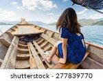 tourist sitting on longtail... | Shutterstock . vector #277839770