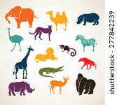 african animals stylized vector ... | Shutterstock .eps vector #277842239