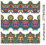 seamless ethnic floral paisley... | Shutterstock . vector #277845638