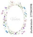 Vector Watercolor Frame With...