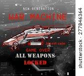 science fiction war machine... | Shutterstock .eps vector #277846364