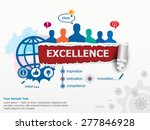 excellence concept and group of ... | Shutterstock .eps vector #277846928