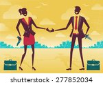 great illustration of two... | Shutterstock . vector #277852034