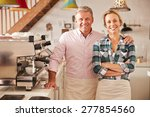 cafe owners  portrait | Shutterstock . vector #277854560