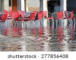 Red Chairs Of The Outdoor Cafe...