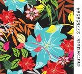 seamples vector flower pattern   Shutterstock .eps vector #277856564