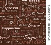 vector hand drawn coffee... | Shutterstock .eps vector #277860548