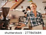cafe staff at work | Shutterstock . vector #277865684