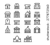 building outline icons | Shutterstock .eps vector #277872560