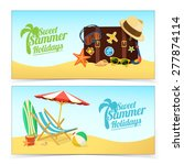 Summer Travel Banners. Tropic...