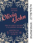 wedding invitation card. vector ... | Shutterstock .eps vector #277879574