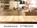Wooden Old Table Place Kitchen...