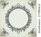 set of vintage design elements  ... | Shutterstock .eps vector #277885613